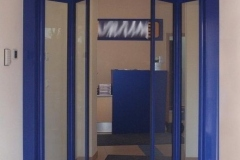 drzwi harmonijkowe dwuskrzydłowe